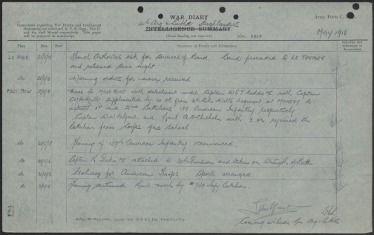 """""""Operation War Diary"""": Das britische Nationalarchiv hat knapp hundert Jahre nach Beginn des Ersten Weltkriegs die Tagebücher britischer Offiziere veröffentlicht."""