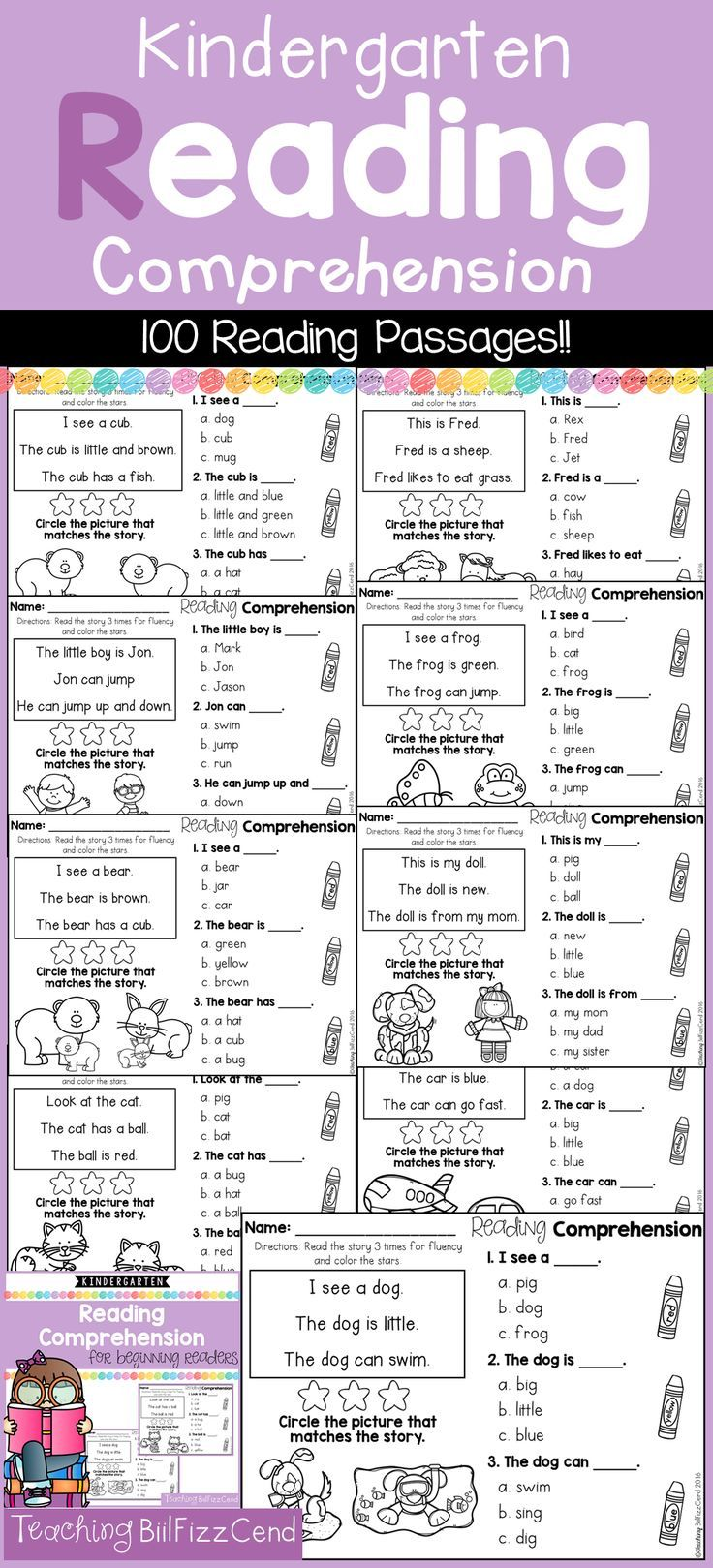 Worksheets 3rd Grade Reading Comprehension Worksheets Multiple Choice 84 best kindergarten reading comprehension passages images on for beginning readers multiple choice
