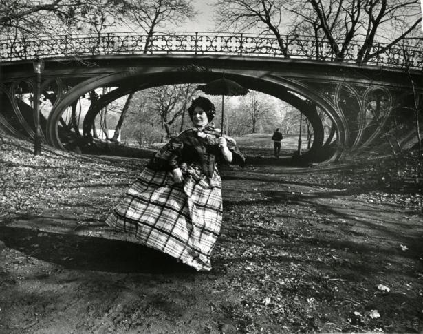 """Central Park bridge,"" New York City, ca. 1968-1976, Bill Cunningham, Gelatin silver photograph, New-York Historical Society."