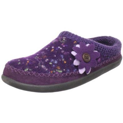 """Daniel Green Women's Portia Scuff Woolrich. $35.67. Indoor/outdoor sole is durable and lightweight. Heel measures approximately 1"""". molded latex insole. Rubber sole. Wool. Wool clog slipper. Platform measures approximately 0.5"""" . Fleece lining and sock. Suede mudguard is soft and durable"""