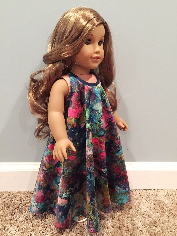 Amy S. of DenimRose made this stunning maxi dress for her American Girl doll Lea using Lee & Pearl Pattern 1032: Desert Sunrise Maxi Dress, Halter Top and Beaded Chokers for 18 Inch Dolls. Find this pattern in our Etsy store at https://www.etsy.com/listing/397805083/lp-1032-desert-sunrise-maxi-dress-halter