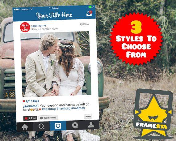 Telaio di Instagram Prop solo File digitale foto di Framesta