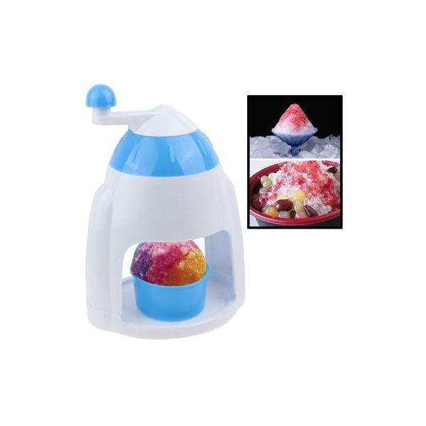 Mini broyeur à glace manuel machine à glace pilée manuelle blanc bleu - www.yonis-shop.com