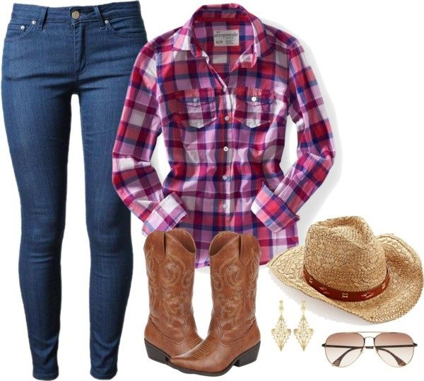 """""""Sweet Cowgirl Outfit"""" by maria-garza on ..."""