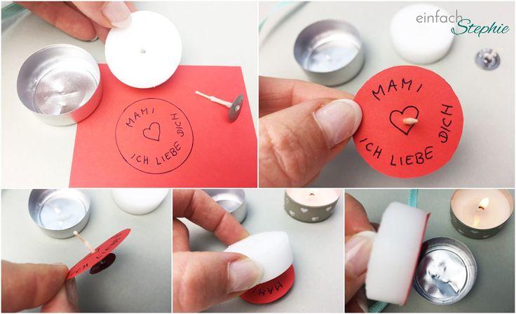 Muttertagsgeschenk basteln: Zauberhaftes Teelicht. Anleitung Schritt für Schritt. Tolle Idee auch für Hochzeit, Konfirmation, Firmung als Gast-Geschenk: http://einfachstephie.de/2016/04/28/muttertagsgeschenk-basteln-mit-kindern/