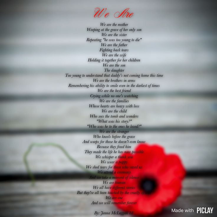 What are some good poems for Remembrance Day?