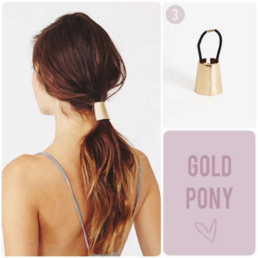 thick gold ponytail clasp cover
