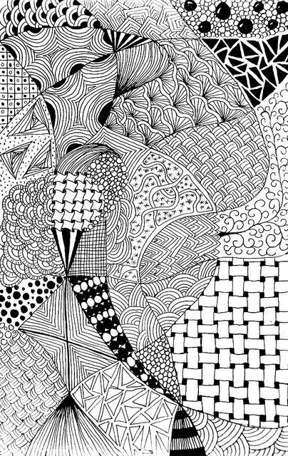 Zentangle #57 - Bored #7 by hilda_r, via Flickr