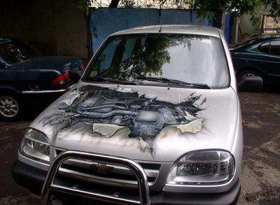 Make your car look like a transformer. #art
