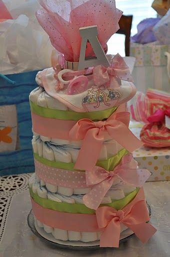 Baby Annabelle's Diaper Cake