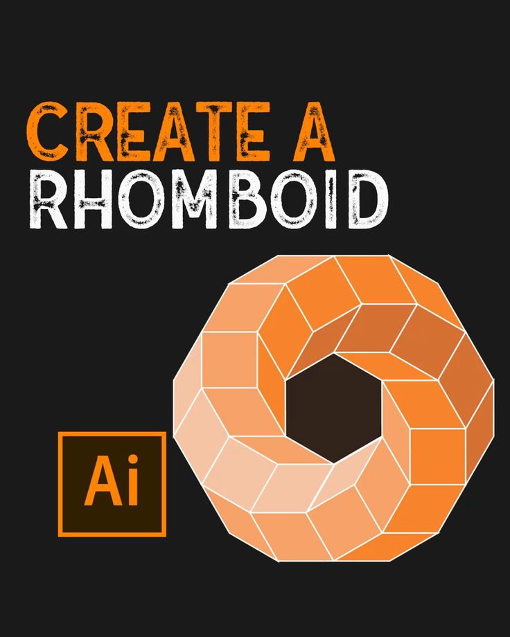 How to create a rhomboid in illustrator video in 2021