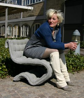 fabric formed concrete chair