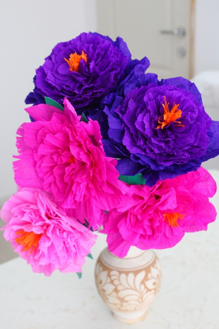 Diy Paper Peonies Bright Cheerful Spring Home Decor Tissue
