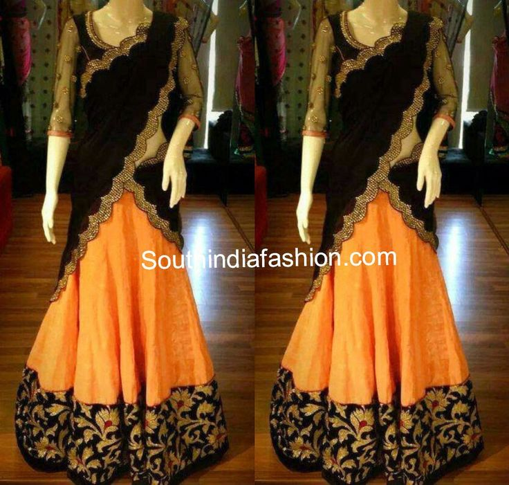 Beautiful Designer Half Saree ~ Celebrity Sarees, Designer Sarees, Bridal Sarees, Latest Blouse Designs 2014