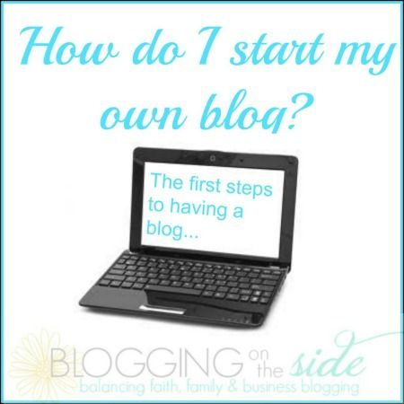 GREAT TIPS for starting a blog!! Follow these steps & get started today
