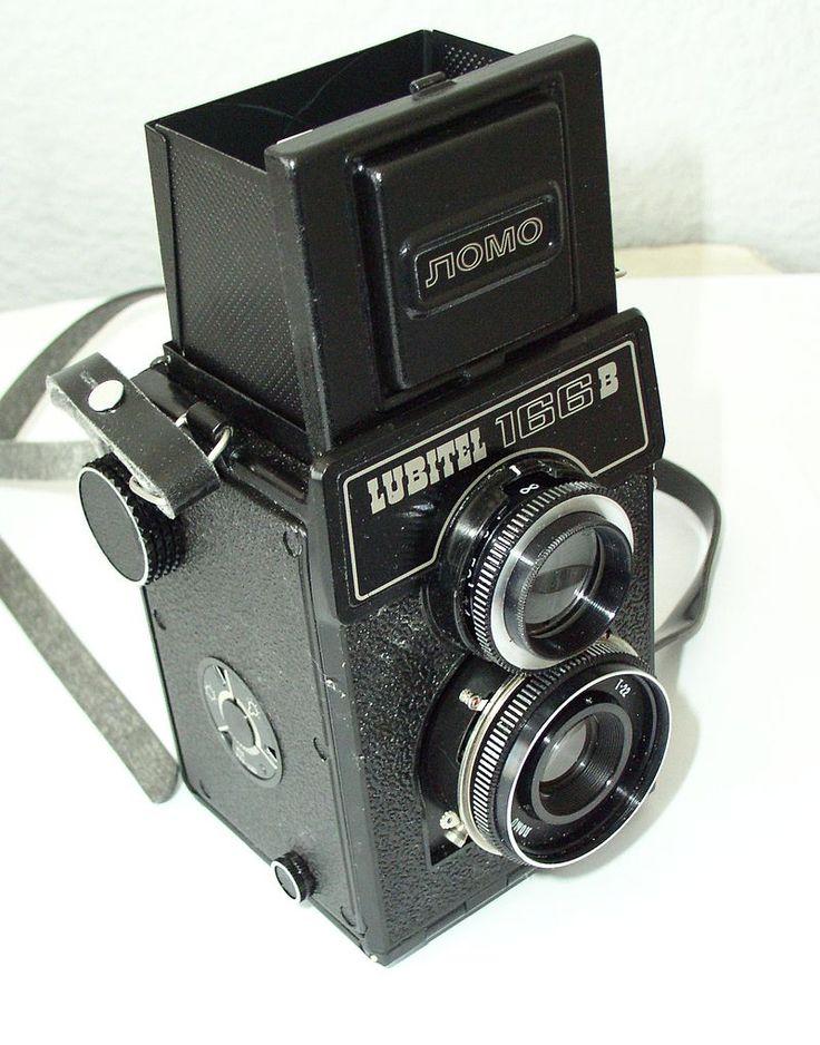 Среднеформатный двухобъективный зеркальный фотоаппарат «Любитель-166В», СССР, 1980