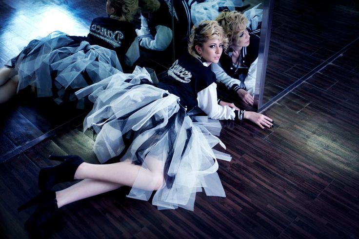#RightLove 2012 Collection  Dancers  Crystal Beads Varsity Dancers Jacket  Black White Tutu Skirt