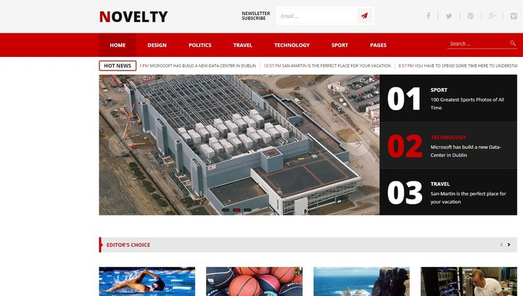 Novelty Magazine WP Responsive Template