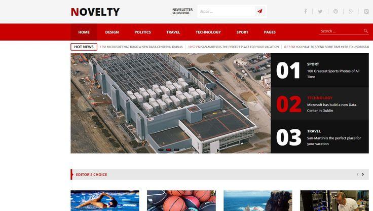 Novelty Magazine WP Responsive Template