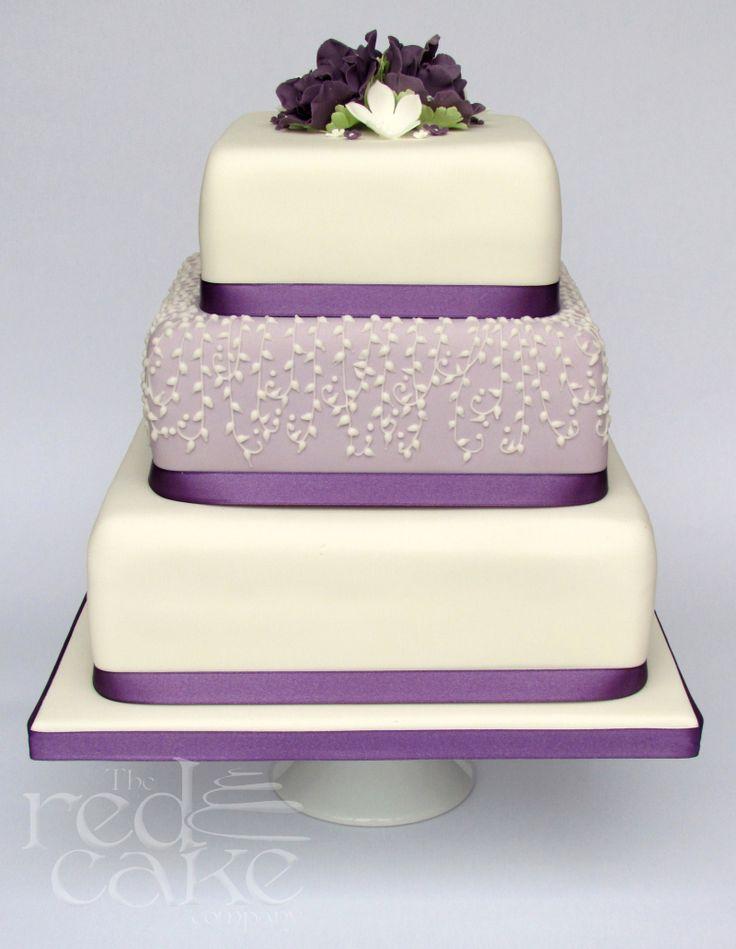 Lilac Square Wedding Cake