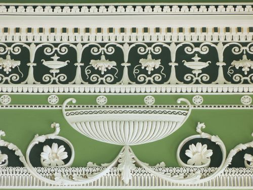 Scottish architect Robert Adam designed this frieze in the Eating Parlour of Headfort House, Ireland.