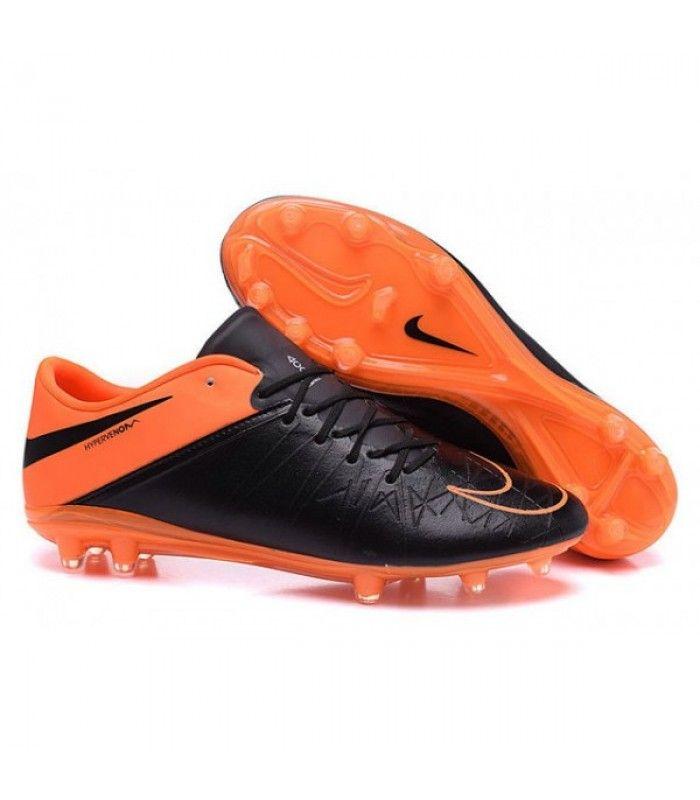 cheap for discount 6c47b 0ff48 ... Acheter Nouveau Hommes Chaussures Nike Hypervenom Phinish II FG Cuir  Orange Noir pas cher en ligne ...