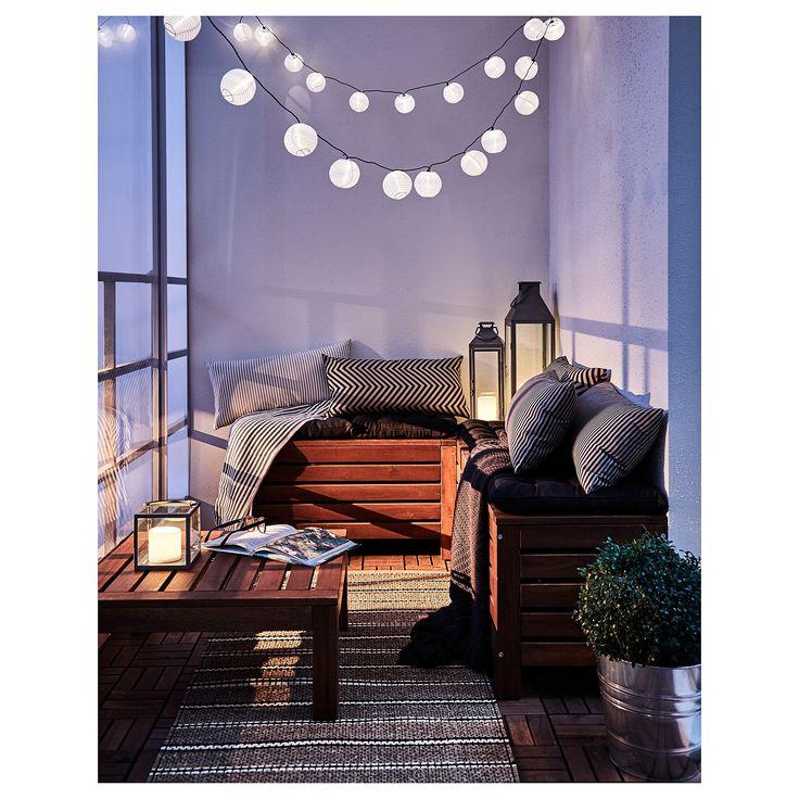 IKEA – ÄPPLARÖ Table/stool section, outdoor brown stained
