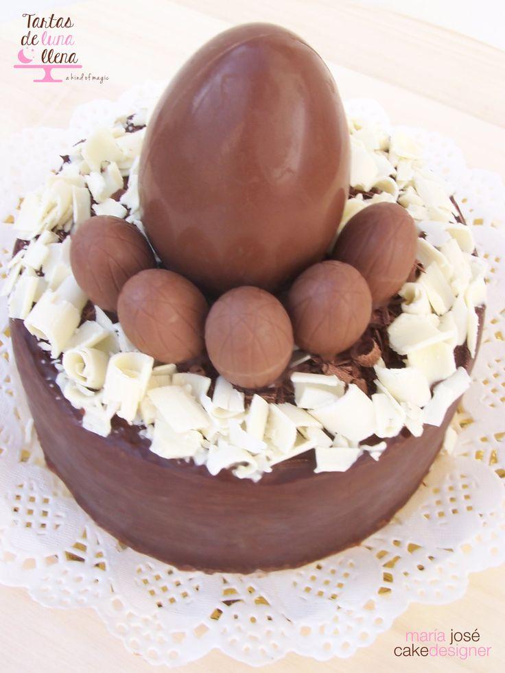 Mona de Pascua 2014 Huevos de chocolate - chocolate eggg cake www.tartasdelunallenga.blogspot.com maria jose cake designer