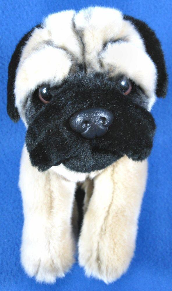 Animal Alley Plush 12 Beige Black Pug Puppy Dog Toys R Us Soft