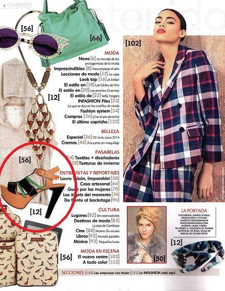 Siuk en la revista  INFASHION, edición Febrero 2014