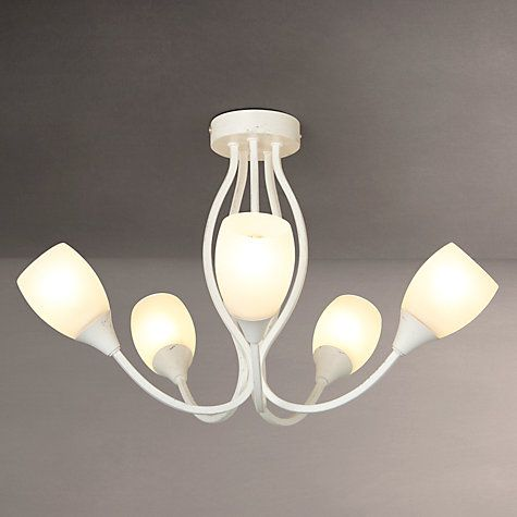 Buy john lewis mirage 5 arm ceiling light distressed ivory online at