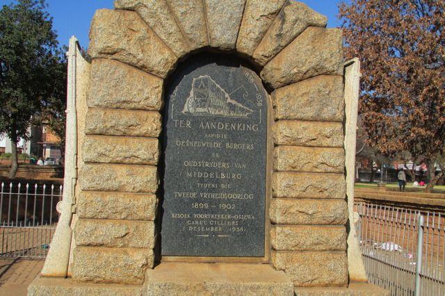 Herdenkingsmonument van die Anglo Boere Oorlog/Boer War (1899-1902) MIDDELBURG, MP, Suid-Afrika