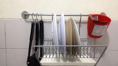 Paket Rak Dinding Dapur Ikea Dengan Pengering Piring