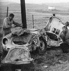 James Dean crashed Spider sports car