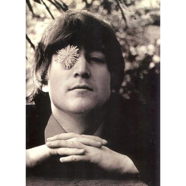 Фото: Джон Леннон (John Lennon) ❤ liked on Polyvore featuring the beatles, beatles, music, pictures and black and white