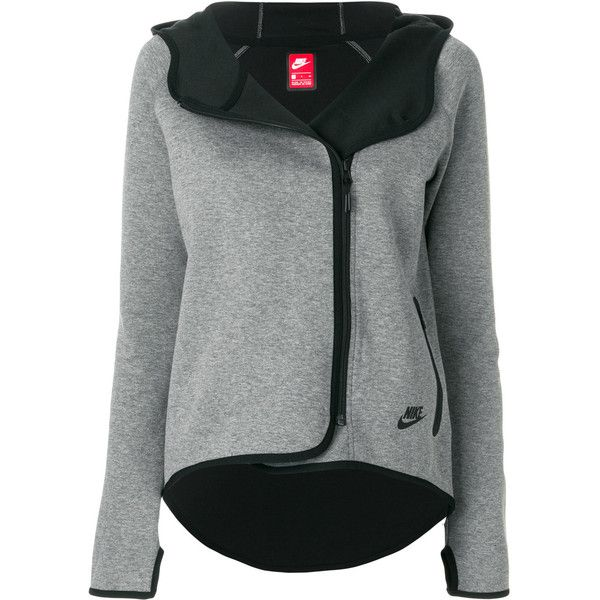 Nike Tech Fleece sweatshirt ($160) ❤ liked on Polyvore featuring tops, hoodies, sweatshirts, black, long sleeve tops, nike tops, nike, long sleeve sweatshirts and nike sweatshirts