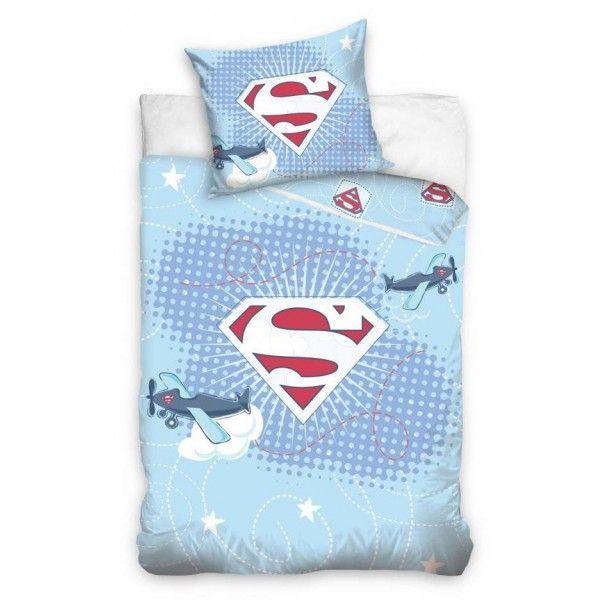SuperBaby Junior sengetøj med logo fra Superman