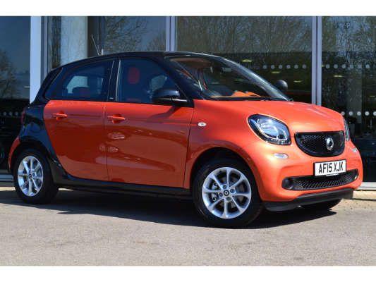 used 2015 15 reg orange black smart forfour hatchback passion for sale on rac cars para. Black Bedroom Furniture Sets. Home Design Ideas