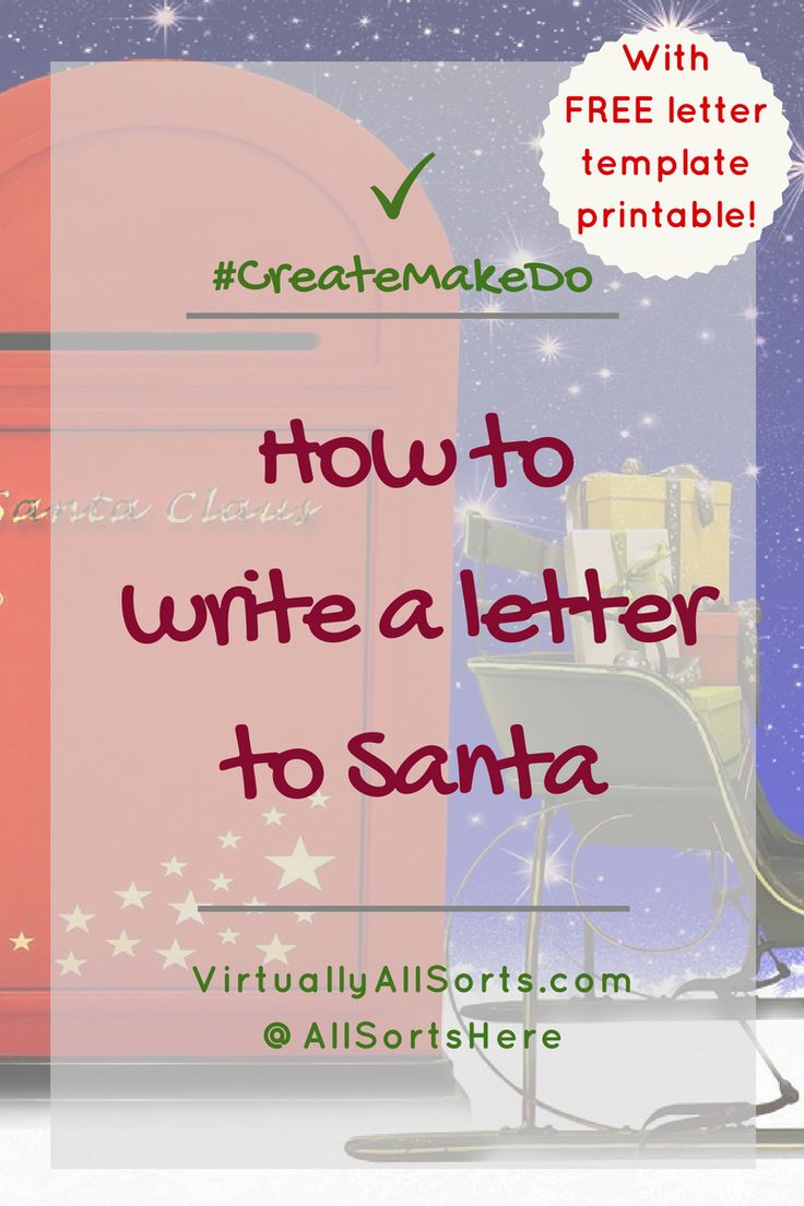 How to write a letter to Santa with FREE printable template letter!  Need a moment in the lead up to Christmas?  Then get the kids to write their wishes to Santa... and breathe!