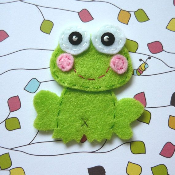 Felt frog applique