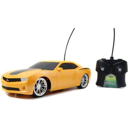Jada Toys HyperChargers 1:16 BTM Remote-Control, 2010 Chevy Camaro SS, Yellow