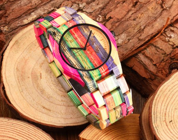rainbow wood watch