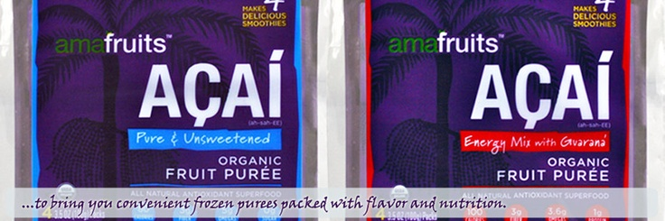 Amafruits Organic Acai Berry Puree | Where To Buy Frozen Acai Pulp | 100% Pure Acai Berry | Brazilian Frozen Acai Berry Pulp | Acai Smoothie Packs