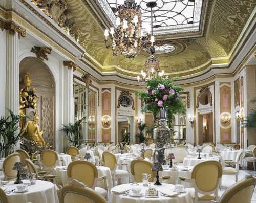 """Tea at the Ritz is the last delicious morsel of Edwardian London. The light is…"