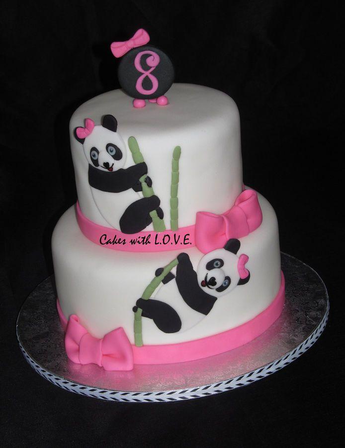 Pandas birthday cake — Children's Birthday Cakes. Tiffani would LOVE this!!