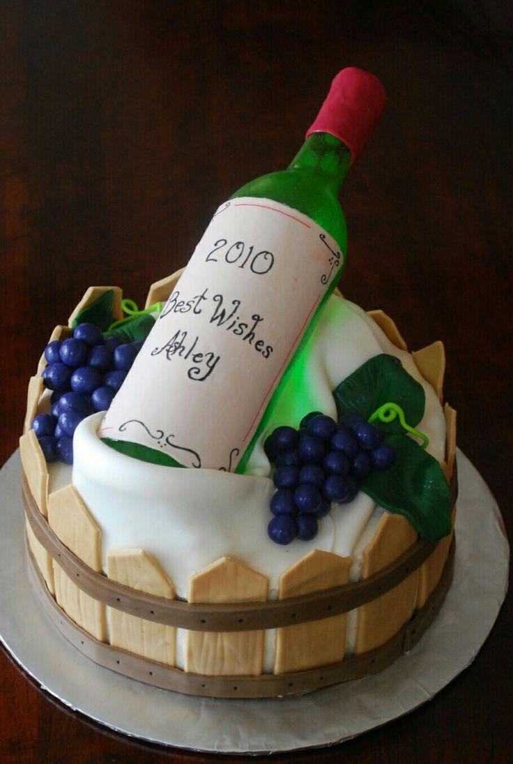 Wine bottle birthday cake