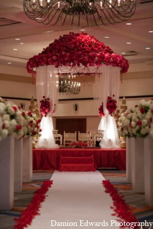 The traditional Indian wedding ceremony happens under the traditional mandap. #wedding #hindi