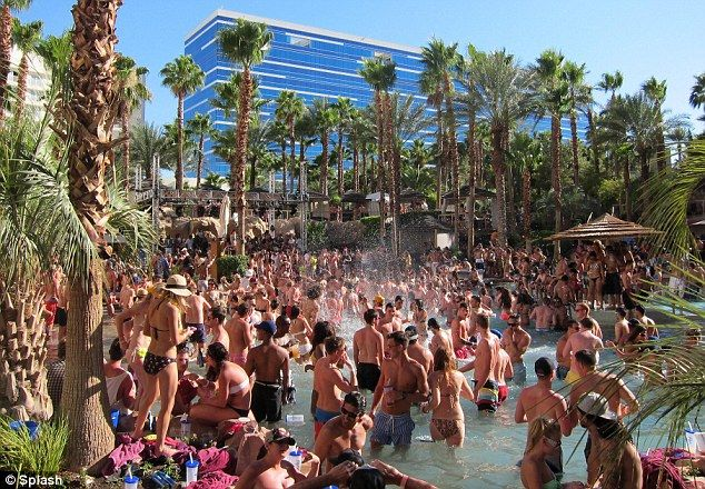 hot, hot, hot: Rehab pool party at Hard Rock Hotel Las Vegas #nice