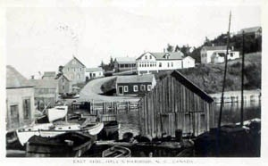Old Postcard of Halls Harbour, Kings County, Nova Scotia
