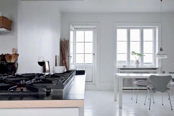 Painted wooden floors - Danish designer Naja Lauf's home